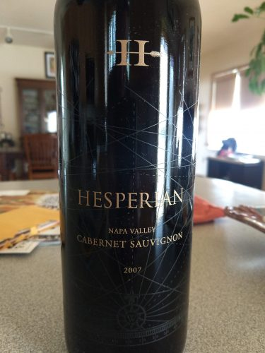 Hesperian Cabernet 2007