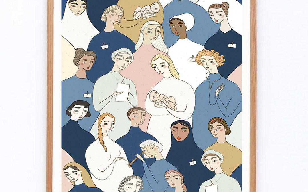 iamida illustration A3 – Midwifes