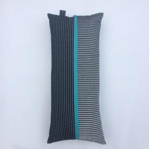 Oblong pillow blue