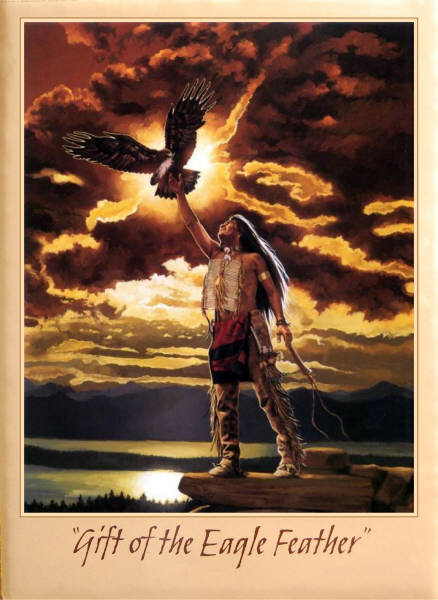 Leanin Tree 16 X 20 Poster SKP867 Gift Of The Eagle