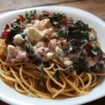Mangold-Feta-Spagetti vom Weltacker