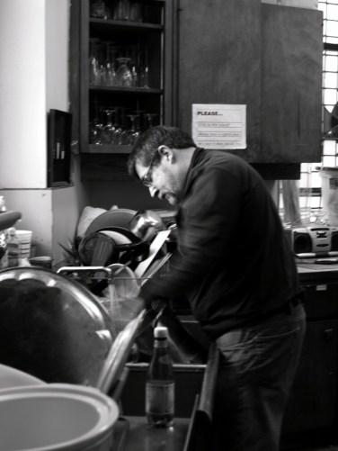 Bob Rosenthal makes the chili