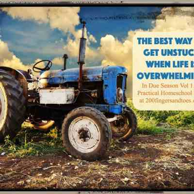 I was stuck in life, what I needed was the same thing this tractor did