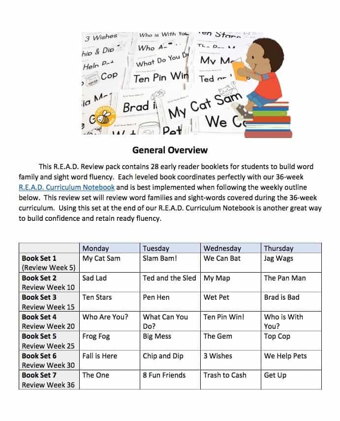 READ schedule