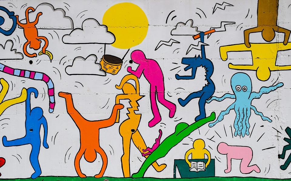 Keith Haring-inspired Graffiti Art