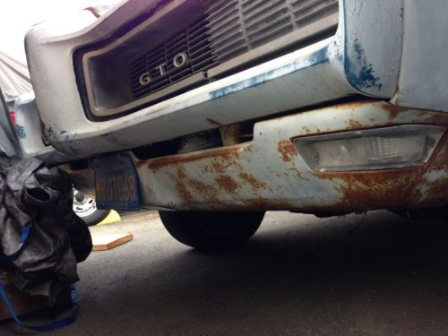 Purchase Used 1968 Pontiac Gto Orig 4 Speed With Bench