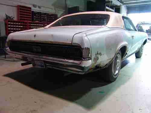 Sell used 1969 Mercury Cougar XR7 Project Car  351W 4bbl  PS PB FMX         1969 Mercury Cougar XR7 Project Car  351W 4bbl  PS PB FMX Parts or  Restore