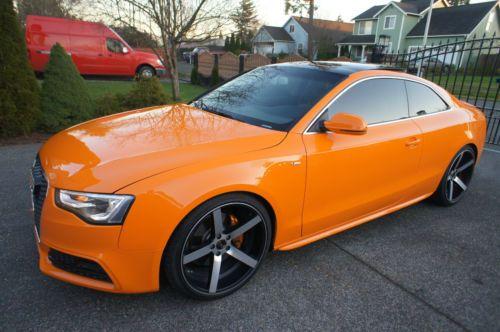 Sell Used Custom 2012 Audi A5 Glut Orange 20 Concave