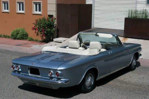 Buy Used 64 Corvair Monza Convertible Sliver Blue White