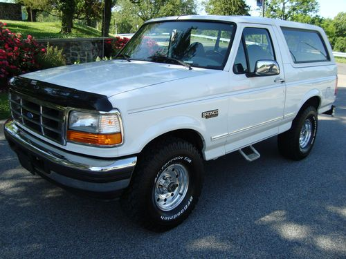 Buy Used 1996 Ford Bronco XLT 4X4 Police Package In