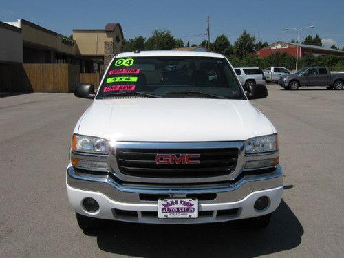 Single Cab Gmc White 2004 Truck