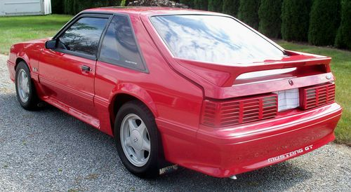 Find Used 1993 Ford Mustang GT Fox Body Red No Rust