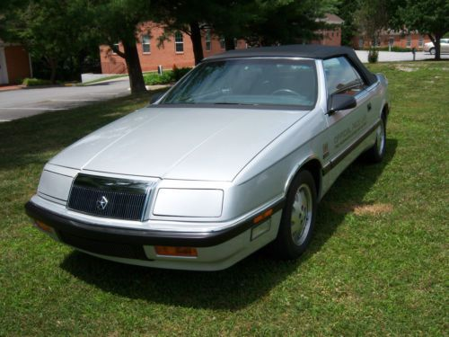 Find Used 1987 Chrysler Lebaron Convertible Indy Pace Car