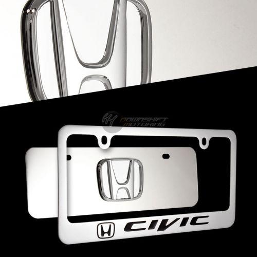 Mirrored Plate License Honda