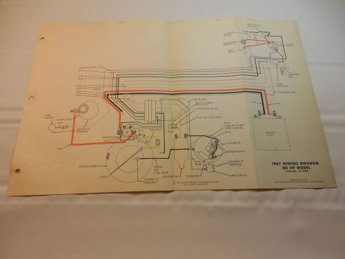 sell 1967 johnson 80 hp outboard wiring diagram vintage