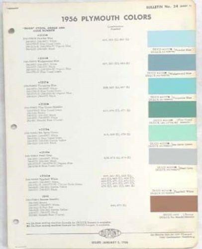 Paint Colors Original 1956 Shasta