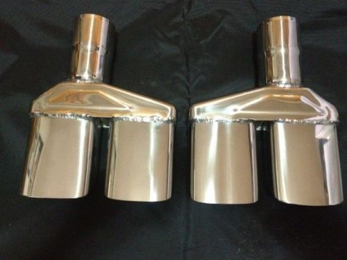 buy 1970 74 mopar dodge challenger 2 5 polished stainless exhaust tips pair in dumont colorado united states for us 114 95