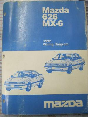 Sell 1992 Mazda 626 MX6 Wiring Diagram motorcycle in