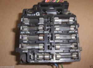 Purchase CORVETTE DASH FUSE BOX BULK HEAD 1976 76 motorcycle in Fayetteville, Geia, US, for