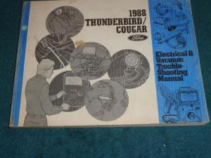 Buy 1988 FORD THUNDERBIRD  MERCURY COUGAR  WIRING & VACUUM DIAGRAM SHOP MANUAL motorcycle in