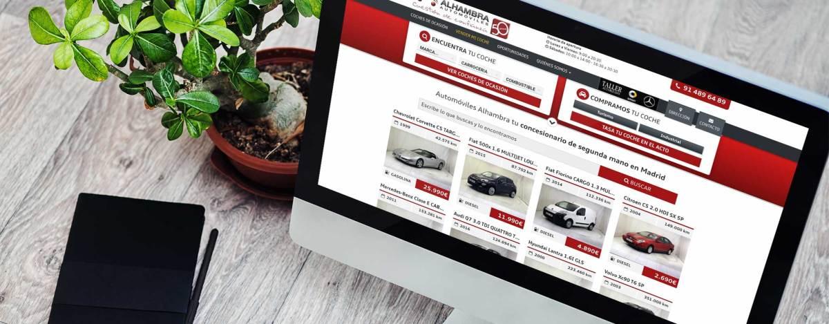 Diseño Web Automoción Concesionario