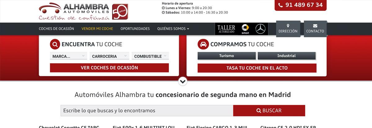 Web Automóviles Alhambra