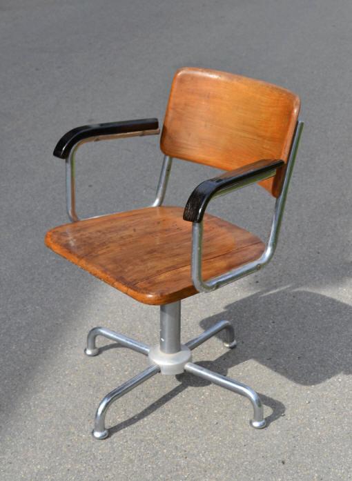 Chaise De Bureau Vintage Roulettes