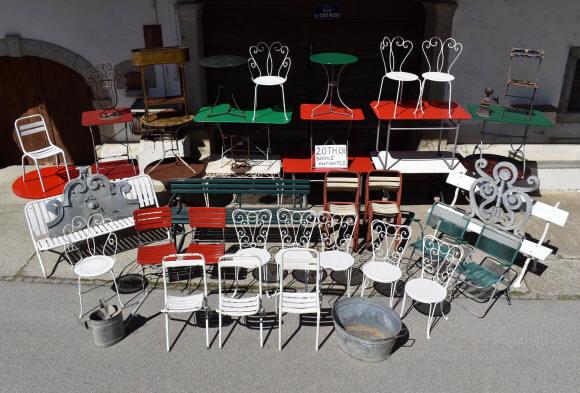 mobilier de jardin ancien et objets en