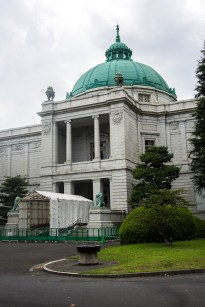 One of the closed exhibition halls at the Tokyo National Museum.
