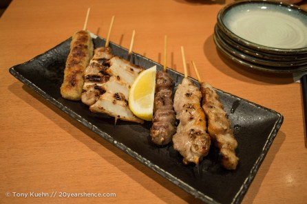 Various grilled mystery meats