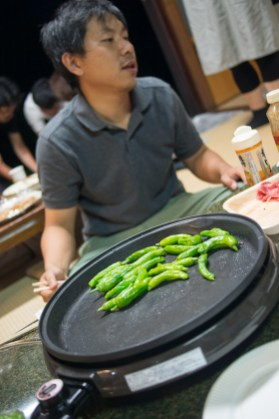Fresh green peppers