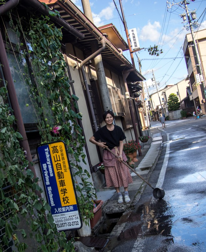 Every morning the people of Furakawa wash the street in front of their shops in preparation for the day ahead