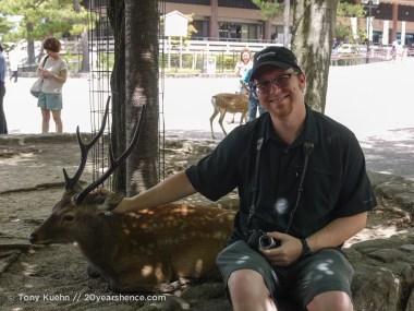 Tony + deer = mild apathy