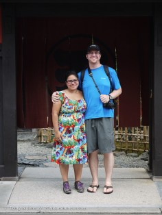 Us, in front of the tea house