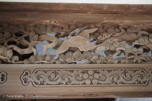 Some of the beautiful craftsmanship at the temple