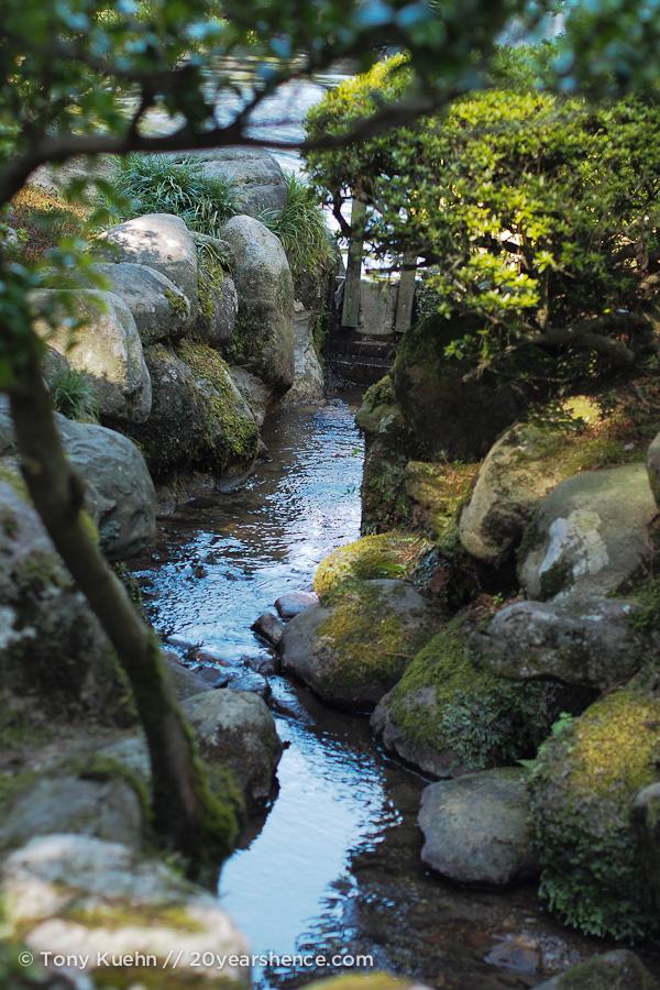 A little stream in Kenrokuen Garden