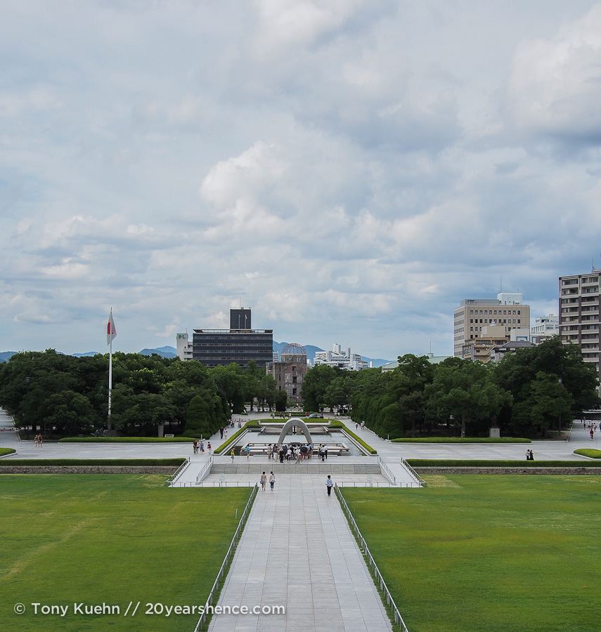 Peace Park from the museum