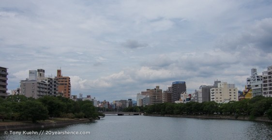 Hiroshima along the river