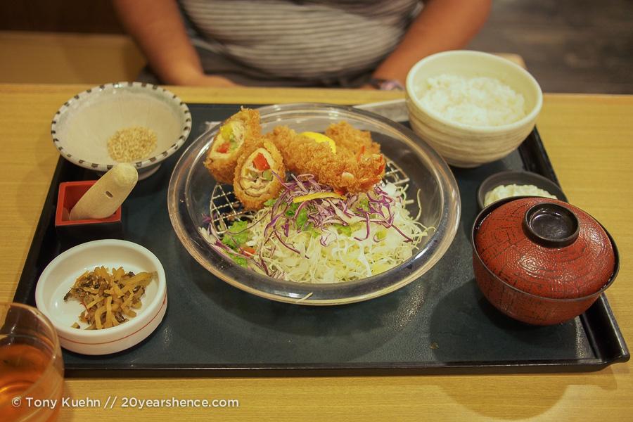 Tempura Katsu lunch Nara
