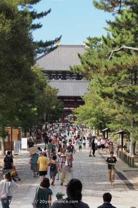 The approach to the gates of Todai-ji