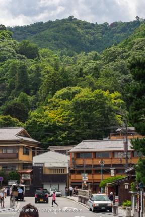Arashiyama at ground level. No monkeys yet...
