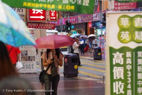 Rainy day at the markets