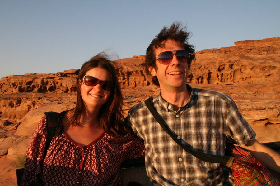Erin and Simon in Wadi Rum, Jordan