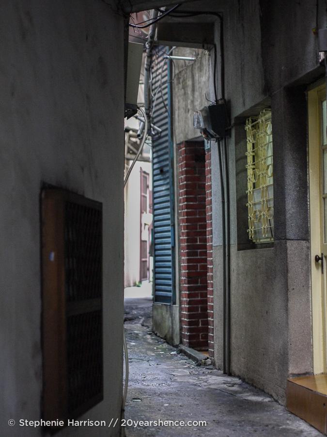 Alleyways in the area