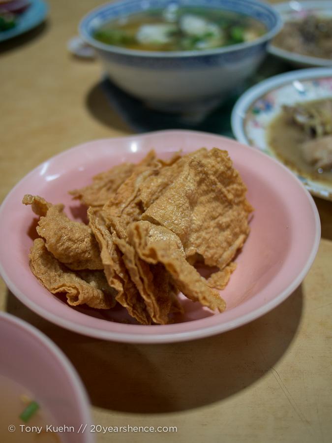 Fried tofu skin