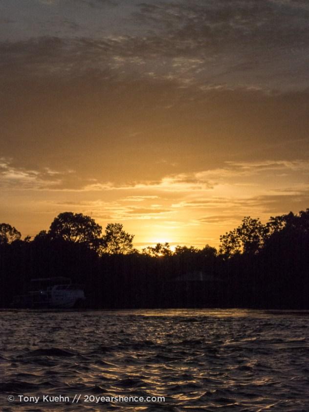 Sunrise over the Kinabatangan River