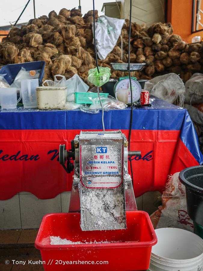 A coconut grinder