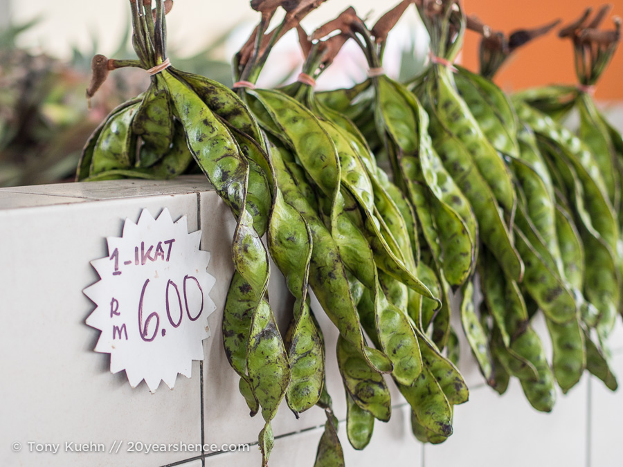 Stink beans in a market in Kuching, Borneo