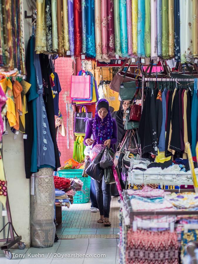 A woman shops in Kuching, Malaysia