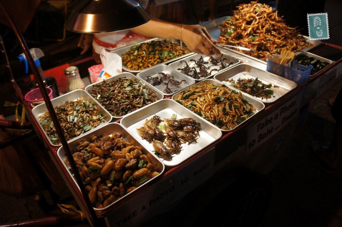 Insect food stand, Bangkok